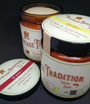 Large Jars of Epic Glow and Oh Aches! Tallow Balm with Green Pasture Oils