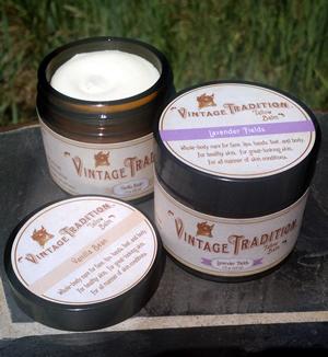 Lavender Fields and Vanilla Bean Tallow Balms