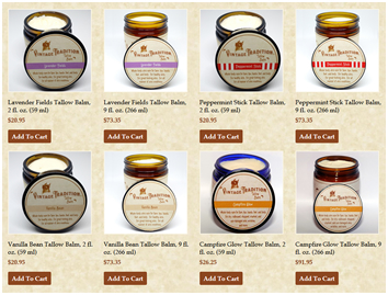 All Tallow Balm skin care products are in stock!