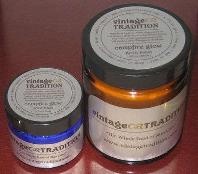 Campfire Glow Tallow Balm by Vintage Tradition
