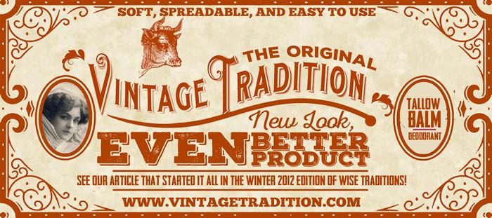 Vintage Tradition - The Original Tallow Balm