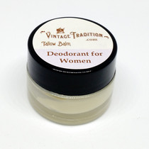 Sample - Deodorant Tallow Balm for Women, 1/4 fl. oz. (7 ml)