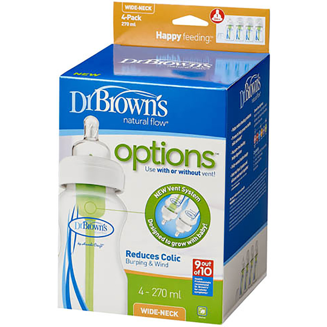 Dr Brown's Options 270 ml Bottles - Four Pack