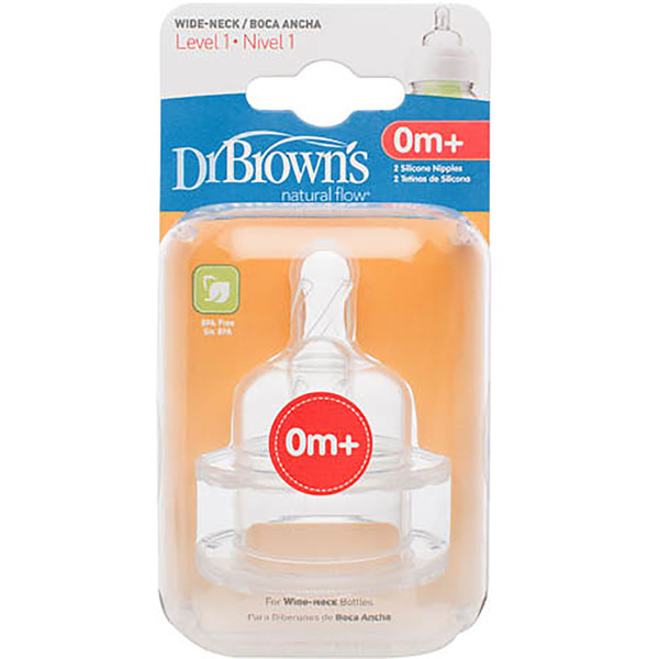 Dr Brown's Options Level 1 Teat 0m+