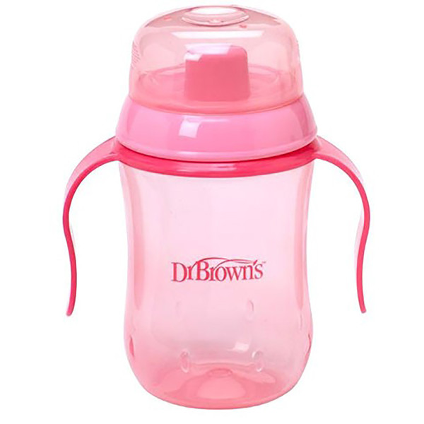 Dr Brown's 180 ml Soft Spout Training Cup - Pink