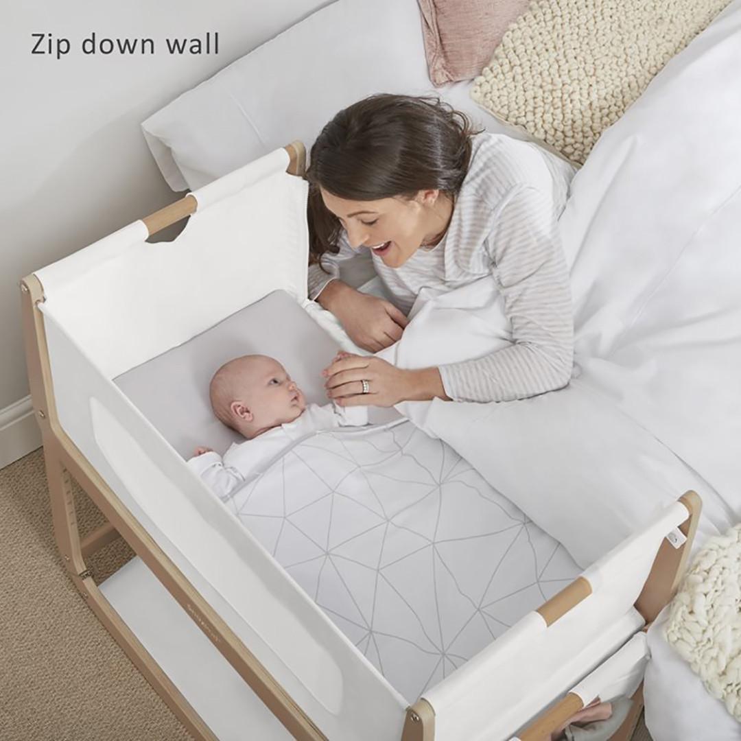 SnuzPod3 Bedside Crib Including Mattress - Natural
