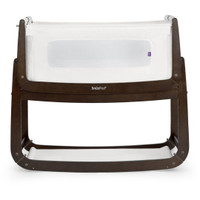 SnuzPod3 Bedside Crib Including Mattress - Espresso