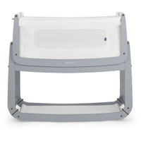 SnuzPod3 Bedside Crib Including Mattress - Dove Grey