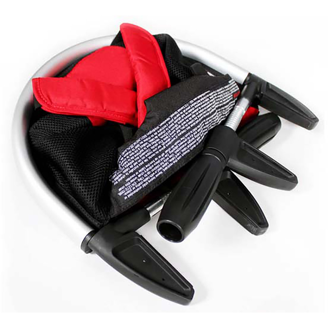Phil & Teds Lobster Portable Highchair - Black/Red