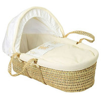 Baby Elegance Star Ted Moses Basket - Cream