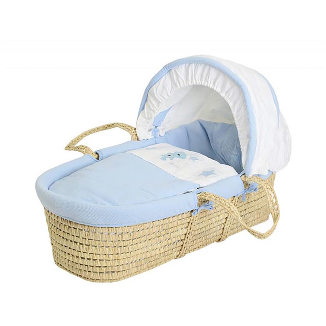 Baby Elegance Star Ted Moses Basket - Blue