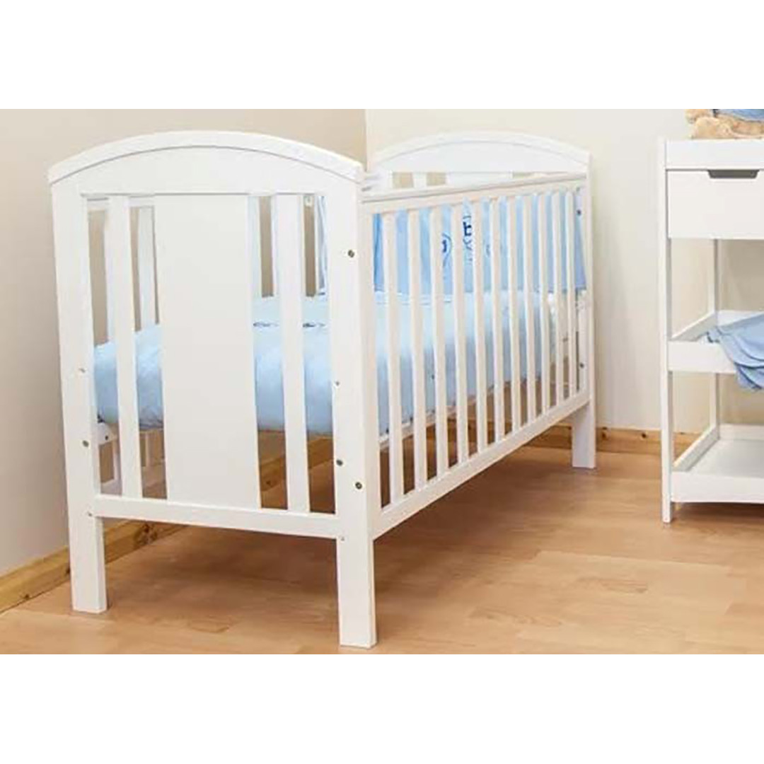 BR Baby Stockholm Cot - White