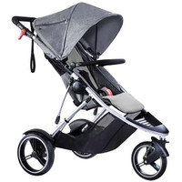 Phil & Teds Dash Inline Pushchair - Grey Marl