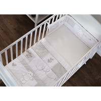 O Baby B is for Bear Bedding - White