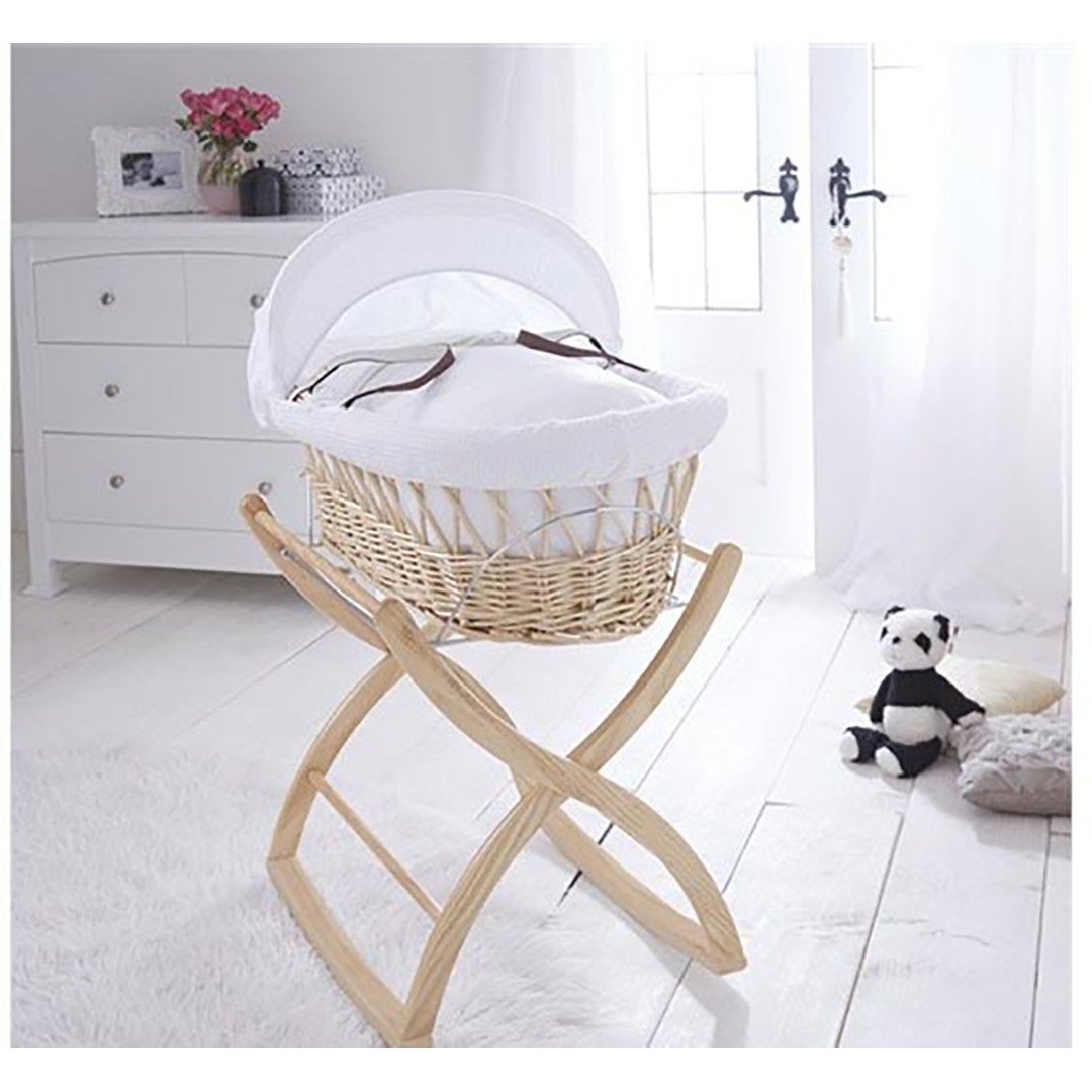 Izziwotnot Rocking Moses Basket Stand - Natural