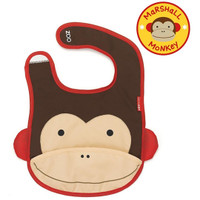 Skip*Hop Zoo Tuck Away Bibs - Monkey