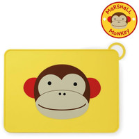 Skip*Hop Zoo Fold & Go Silicone Placemat - Monkey