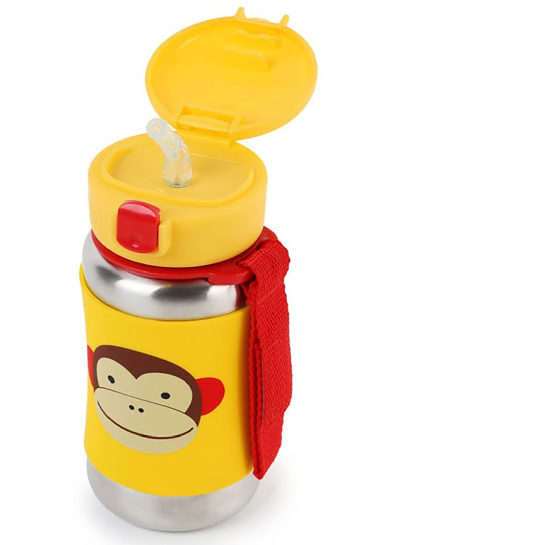 Skip*Hop Zoo Stainless Steel Straw Bottle - Monkey