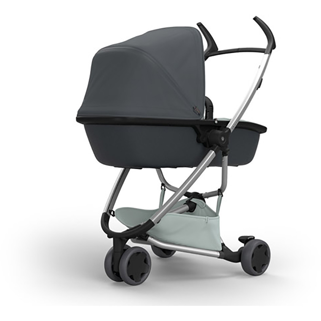 Quinny Zapp Lux Carrycot - Grey on Graphite