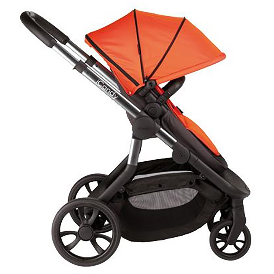 iCandy Orange Double Pushchair and Carrycot - Flame