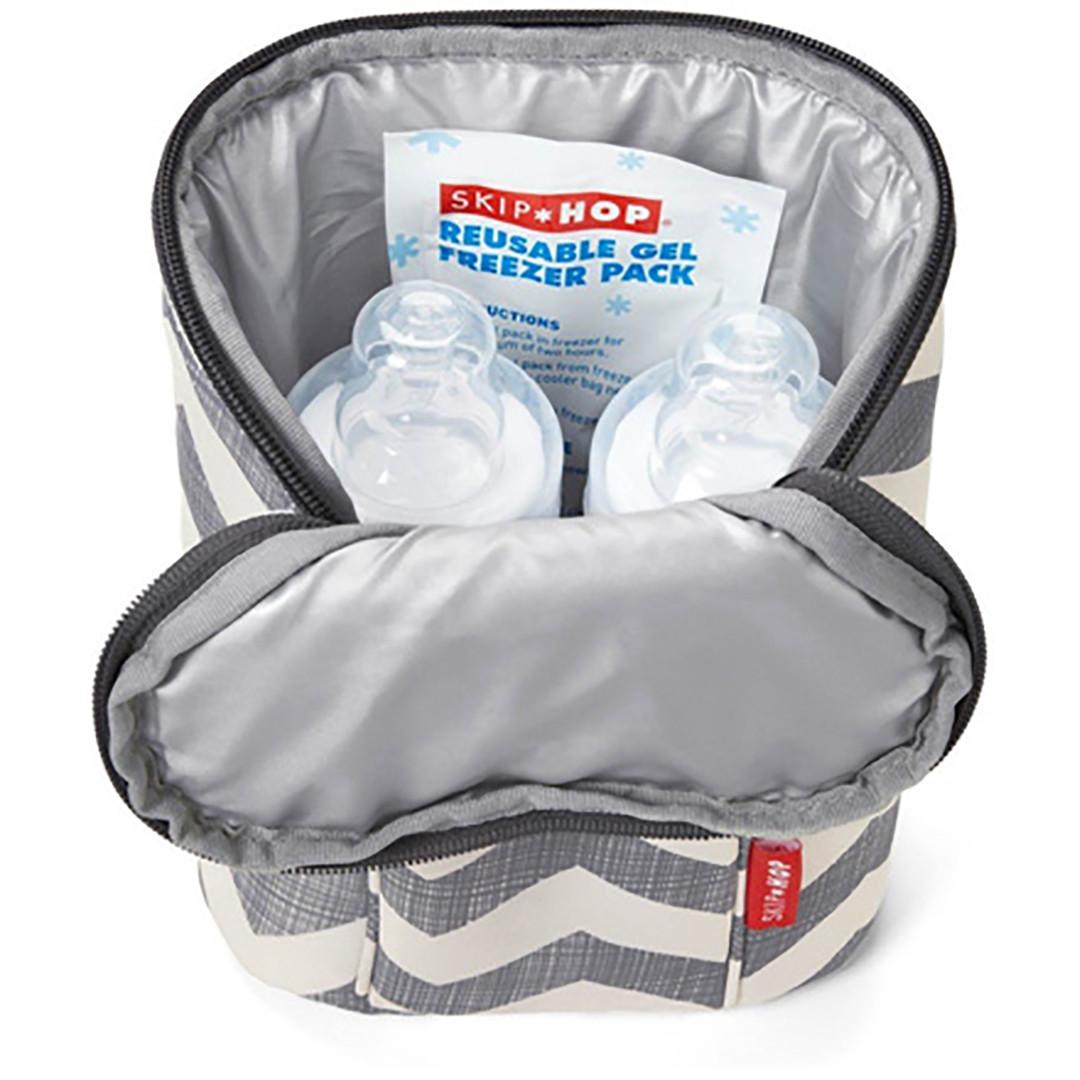 Skip*Hop Grab & Go Double Bottle Bag - Chevron