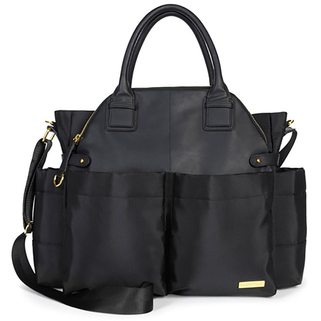 Skip*Hop Chelsea Downtown Chic Changing Satchel - Black