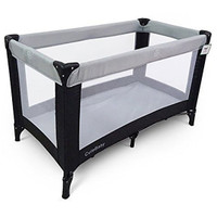 BR Nursery Travel Cot - Grey & Black