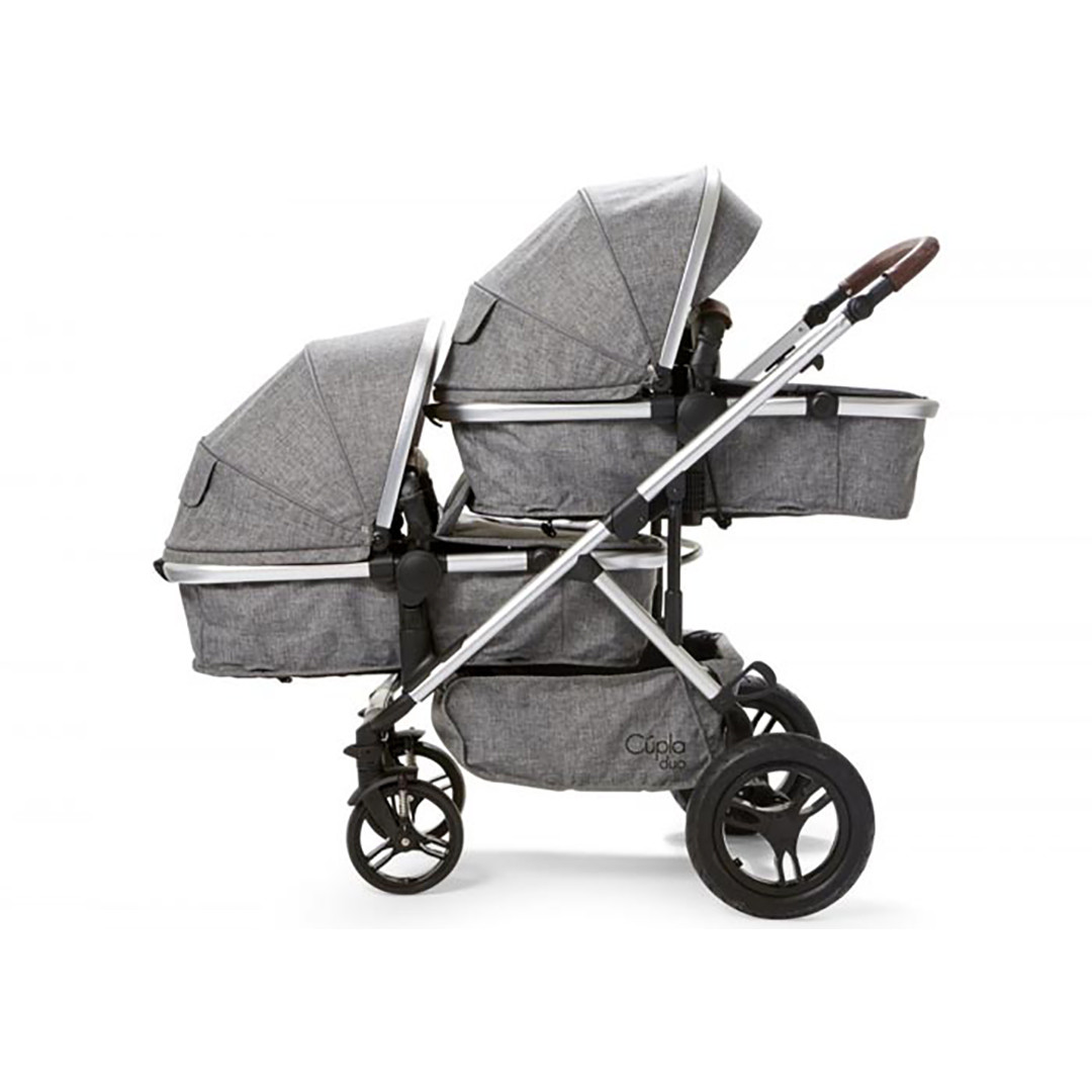 Cupla Duo Twin Travel System - Grey