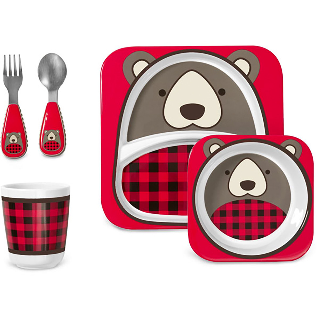 Skip Hop Winter Zoo Mealtime Set - Blake Bear