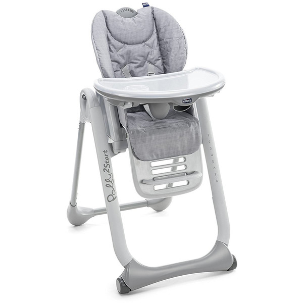 Chicco Polly 2 Start Highchair - Happy Silver