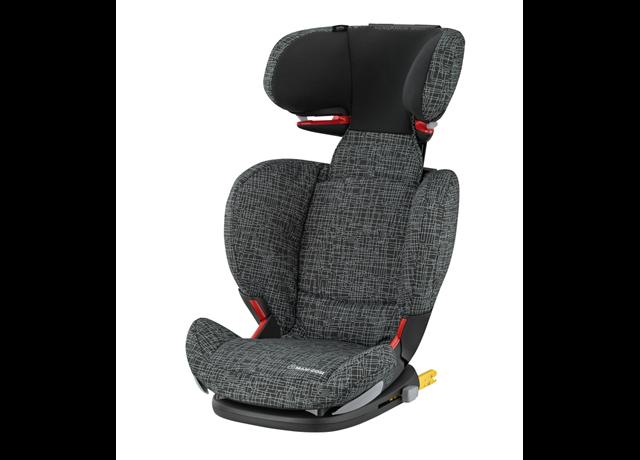 Child Car Seat Black Grid Image 1