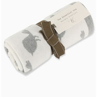 The Essential One- Little Birdy Knitted Reversible Blanket