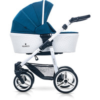 Venicci Pure Edition Travel System - Ocean Blue  + FREE ISOFIX BASE