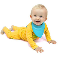 CogniKids Sooth-Sensory Teething Bibs- Sunshine/Sky