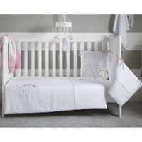 Clair De Lune Over The Moon Cot/Cot Bed Quilt & Bumper Bedding Set- Pink