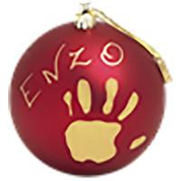 Baby Art personalized Christmas bauble - Red