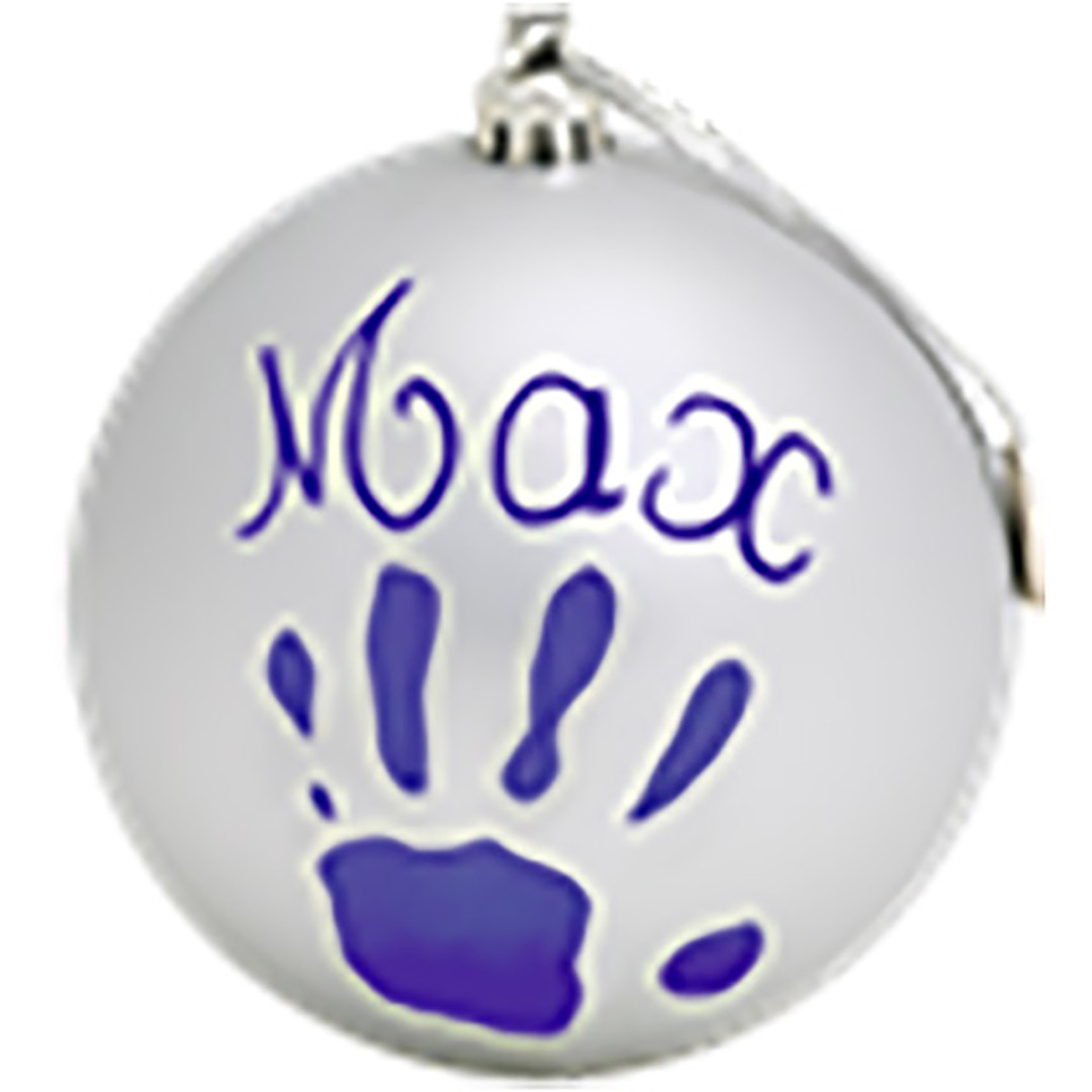 Baby Art Christmas Bauble - Silver