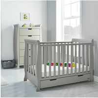 Stamford Mini Cot Bed - Warm Grey