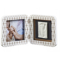 My Baby Touch Rounded Single Print Frame- White/Copper