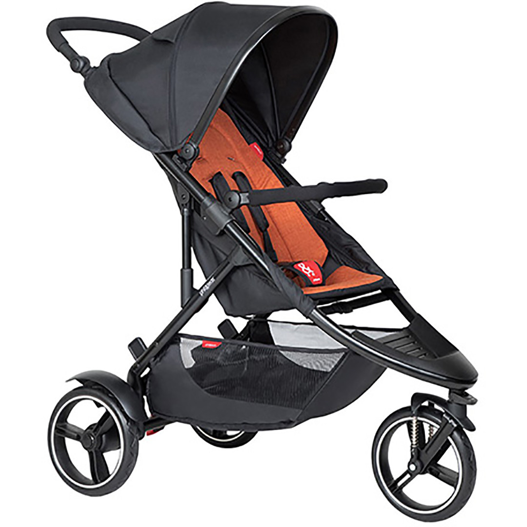 Phil & Ted Dot Pushchair - Rust