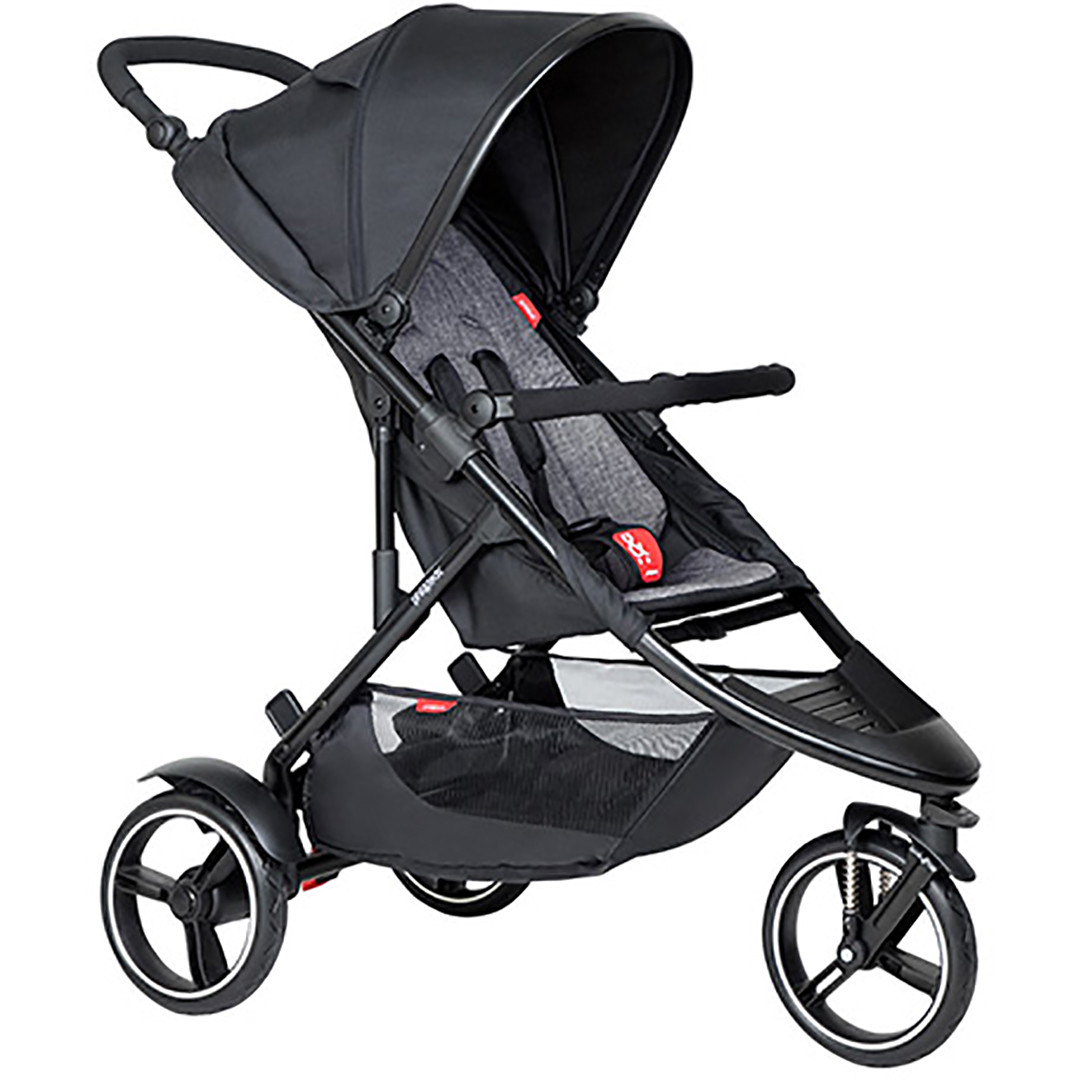 Phil & Ted Dot Pushchair - Charcoal