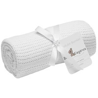 Baby Elegance Cellular Blanket - White