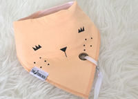 The Stork Box Dribble Bib - Orange Bear