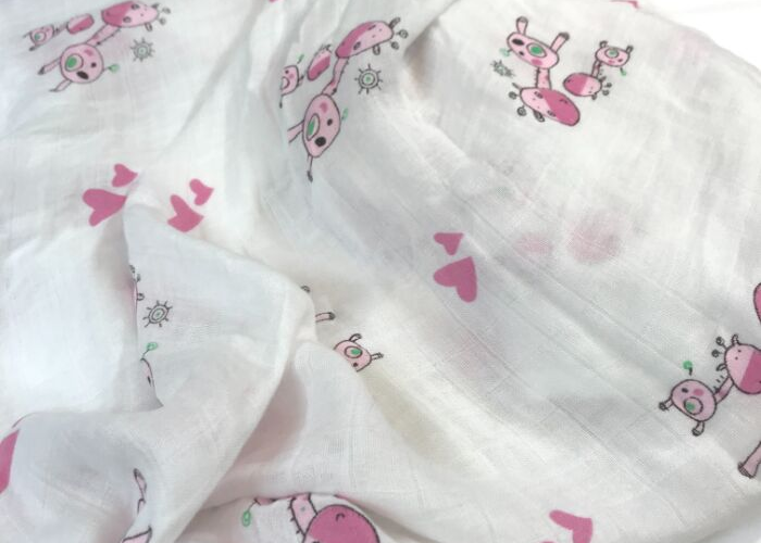 The Stork Box Swaddle Muslin Blanket - Pink