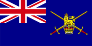 Army Ensign (worn by vessels commanded by commissioned officer)