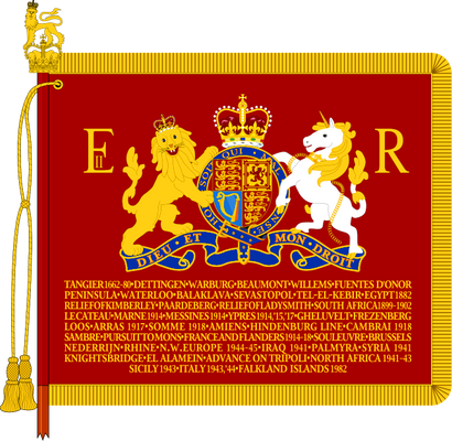 The Sovereign's Standard of The Blues and Royals