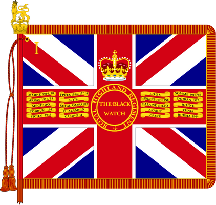 The Queen's Colour of 1st Battalion, The Black Watch