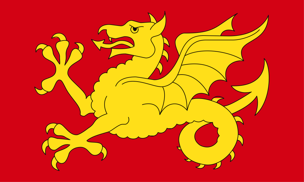 Wessex Hand Waving or Table Flag English County