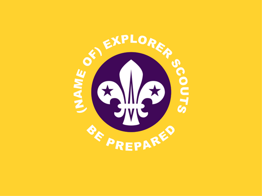 Explorer Scout Unit Flag