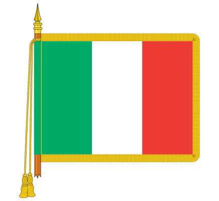 Ceremonial Italian Flag